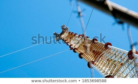 Drutu kolczastego informacji ochrony telefonu technologii sieci Zdjęcia stock © papa1266