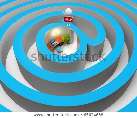 3d small people   internet a labyrinth stock photo © anatolym