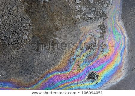 Oil spill on asphalt road Stock photo © smuki