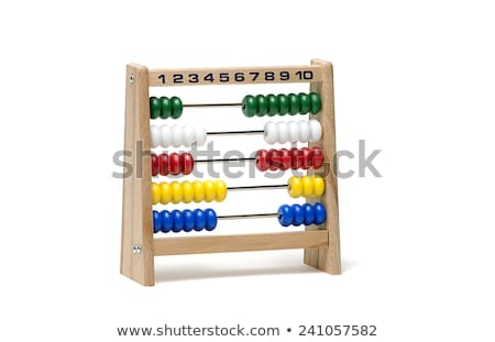 Wooden abacus isolated on white background Stock photo © ozaiachin