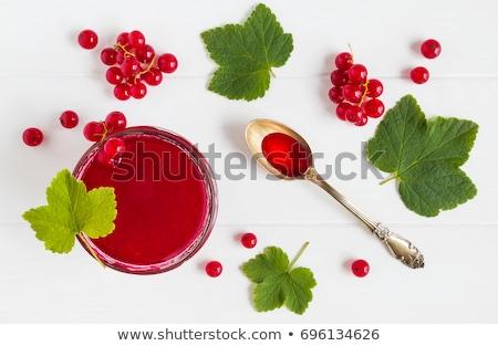 fresh fruits  white red currants jars preparations Stock photo © fotoaloja