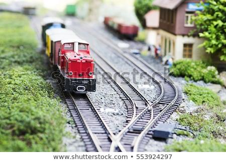 модель поезд Vintage драйвера Сток-фото © nelsonart