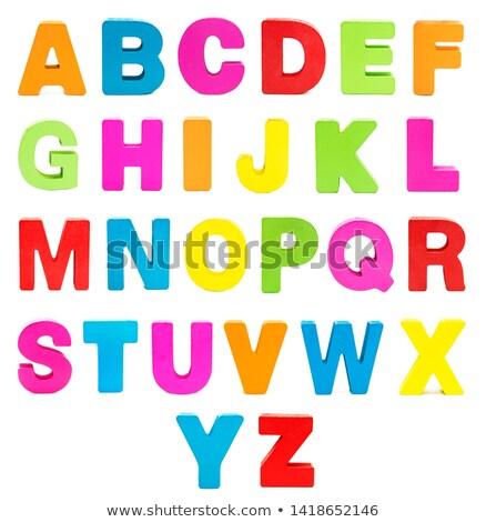 пластиковых · алфавит · изолированный · белый · образование · письме - Сток-фото © jonnysek