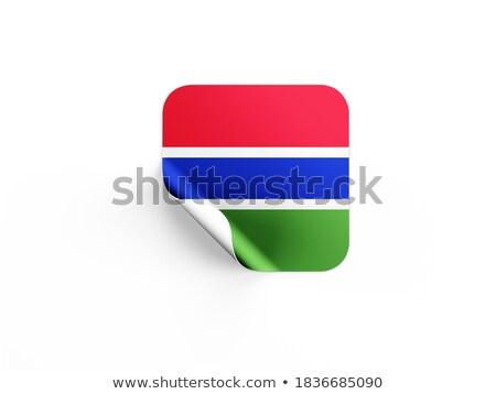 Placu etykiety banderą Gambia odizolowany biały Zdjęcia stock © MikhailMishchenko