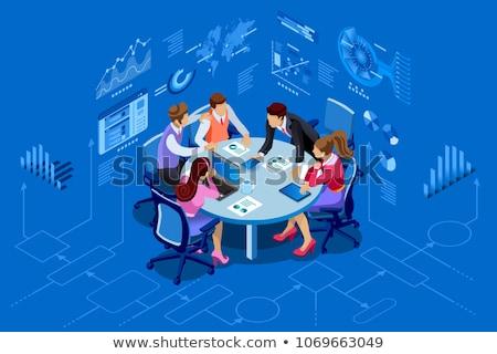 Modern Business Woman Conceptual Infographics Stock photo © vectorikart