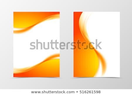 bright orange wavy background stock photo © saicle