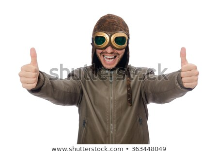 funny pilot isolated on the white stock photo © elnur