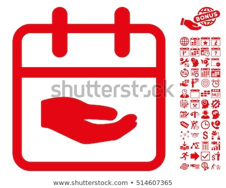 Faire un don rouge sticky notes vecteur icône design Photo stock © rizwanali3d