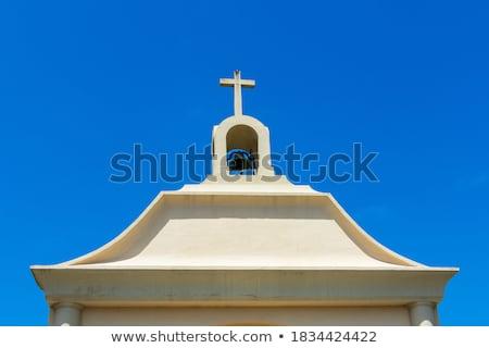 estatua · Jesús · Cristo · cruz · cielo · azul - foto stock © stevanovicigor