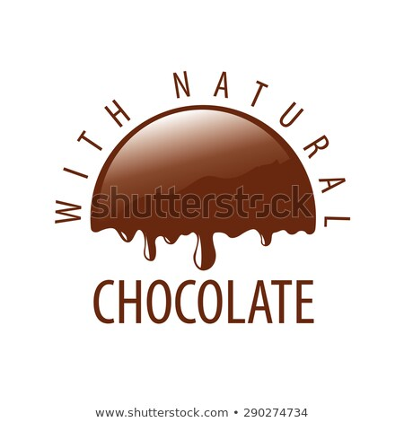 vector logo natural melting chocolate Stock photo © butenkow