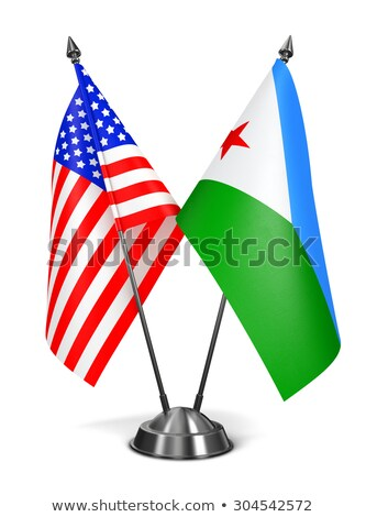 USA and Djibouti - Miniature Flags. Stock photo © tashatuvango
