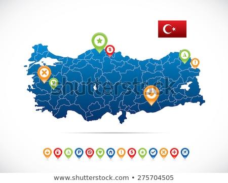 ストックフォト: 地図 · トルコ · イズミル · 外に · 孤立した · 白