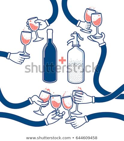 Blue drinking glasses vector illustration Stock photo © ElaK