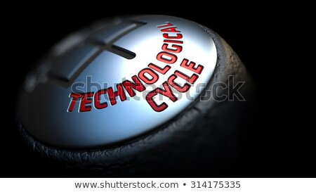 Technological Cycle on Car's Shift Knob. Stock photo © tashatuvango