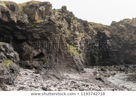 Kaya oluşumu İzlanda dağ manzara manzara kaya Stok fotoğraf © prill