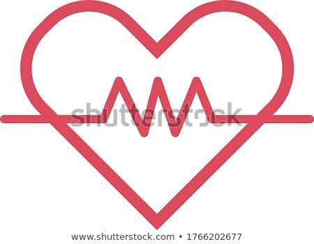 Pressão arterial ícone projeto isolado ilustração coração Foto stock © WaD