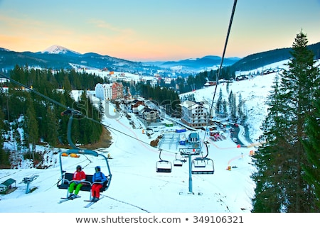 Bukovel ski resort from top Stock photo © OleksandrO
