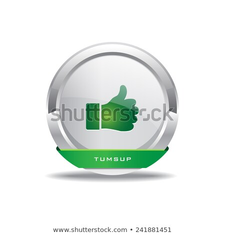 Thumbs Up Circular Vector GreenWeb Icon Button stock photo © rizwanali3d