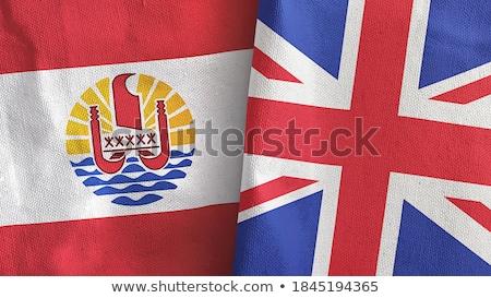 イギリス フランス語 ポリネシア フラグ パズル 孤立した ストックフォト © Istanbul2009