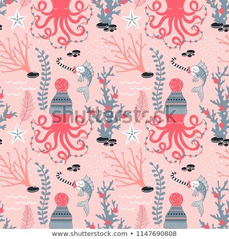 タコ を祝う クリスマス 実例 魚 海 ストックフォト © adrenalina