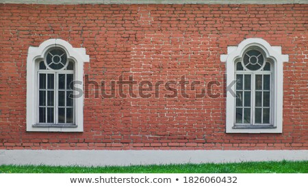 two rows frames on brick white wall Stock photo © Paha_L