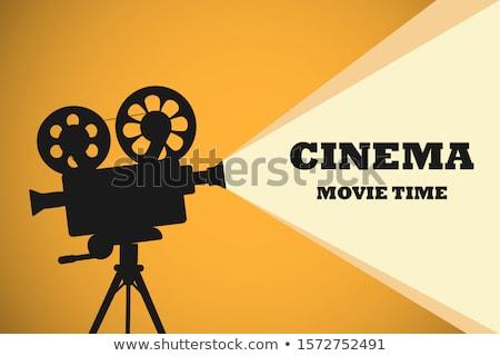 przestarzały · kamery · wideo · film · wideo · czarny · biały - zdjęcia stock © avlntn