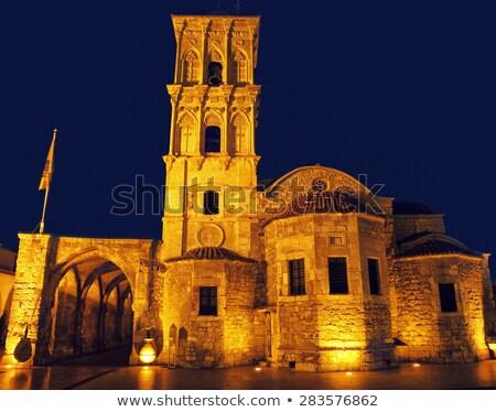 Kerk nacht Cyprus landschap architectuur eiland Stockfoto © Kirill_M
