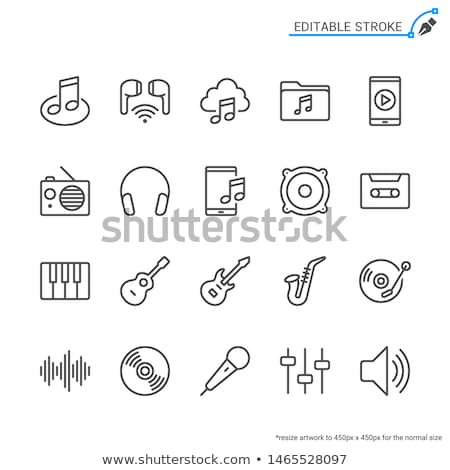 Audio file line icon. Stock photo © RAStudio