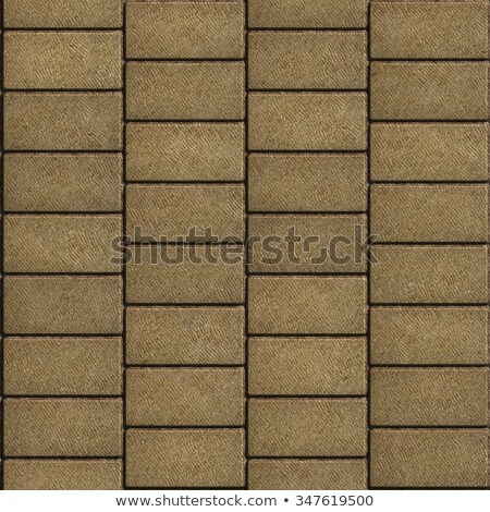 sand color tiles in the form of rectangles laid out horizontally stock photo © tashatuvango