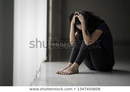 Donna sofferenza anoressia illustrazione bellezza silhouette Foto d'archivio © adrenalina