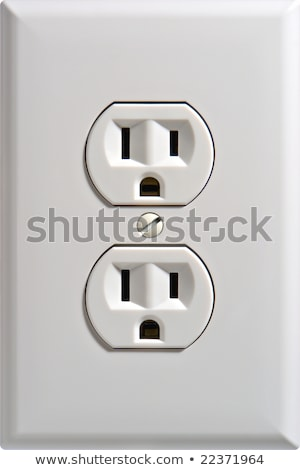 North American white electric wall outlet receptacle Stock photo © shutswis