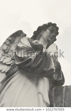 Ornate Headstone of an Angel Stock photo © smartin69