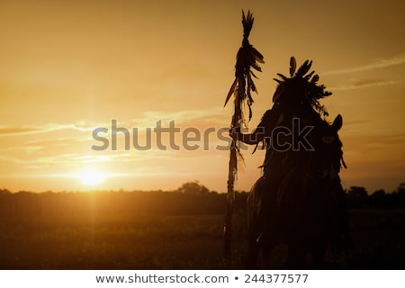 native american indian on horse stock photo © adrenalina