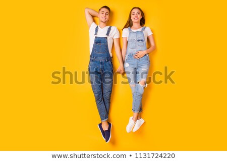 Couple lying on the floor stock photo © ambro