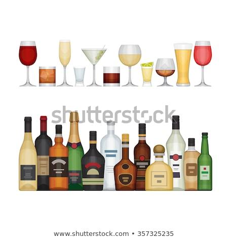 Borospohár alkoholos ital üveg asztal bor terv Stock fotó © Mikko