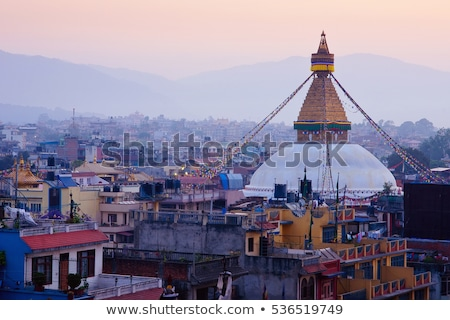 şehir Nepal Bina seyahat binalar Stok fotoğraf © dutourdumonde