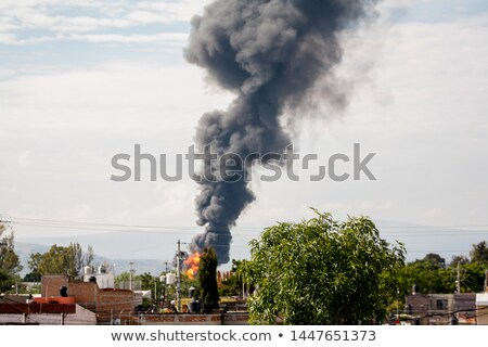 Ipari fekete mérgező füst szén erőmű Stock fotó © vapi
