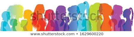 women silhouette color Stock photo © nicemonkey