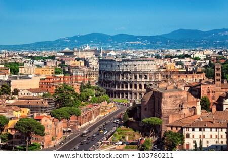 facade of the Colosseum in Rome Stock photo © adrenalina