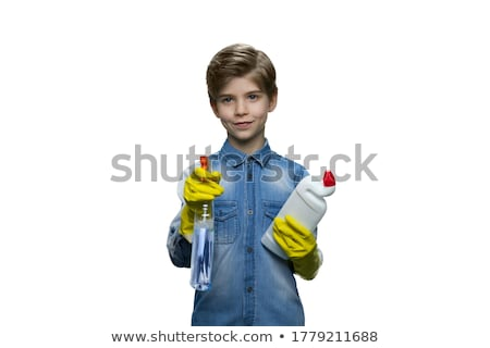 Adorable little boy at home toilet Stock photo © zurijeta
