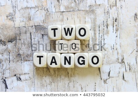 It takes two to tango idiom Stock photo © bluering