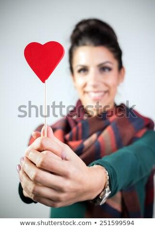 vrouw · christmas · snoep · vorm · hart - stockfoto © artfotodima