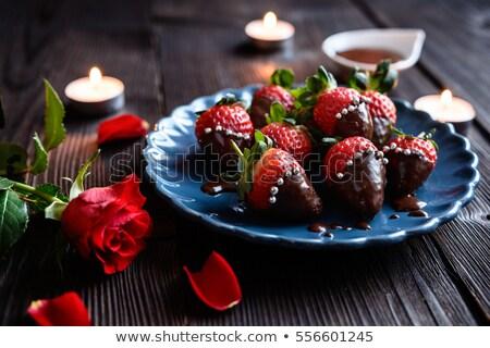 шоколадом · плодов · приготовления · десерта · еды · конфеты - Сток-фото © bernashafo