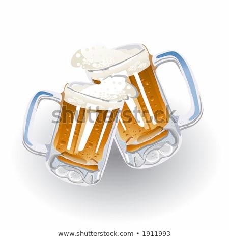 Stockfoto: Vers · bier · xxl · glas · water · parels