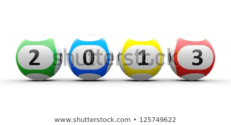Lotteria 2013 3D bianco Foto d'archivio © Oakozhan