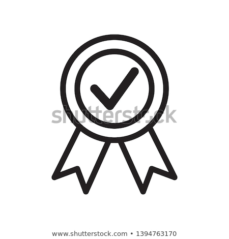 certificato · icona · stile · bianco · grigio · colori - foto d'archivio © wad