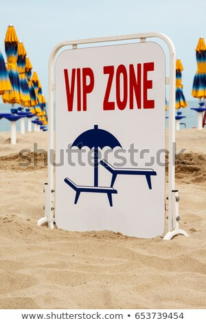 Sign at the beach (granted area) Stock photo © luissantos84