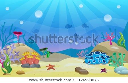 Vízalatti jelenet meduza hal tenger háttér Stock fotó © bluering