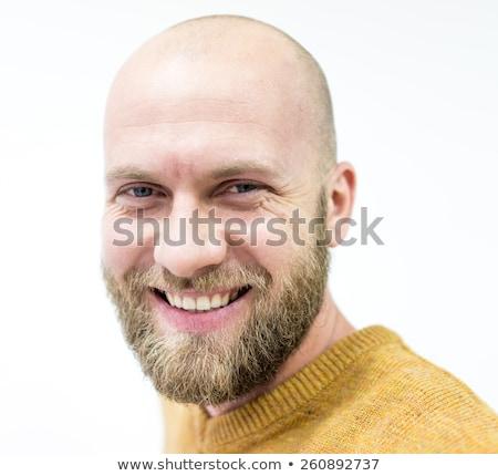 Calvo giovani bell'uomo barba ritratto Foto d'archivio © zurijeta