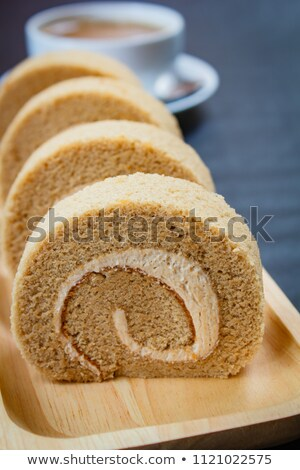 Mocha sponge cake roll Stock photo © Digifoodstock